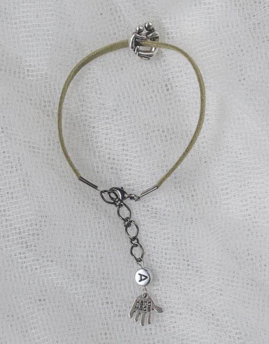 Armband olivgrön kram
